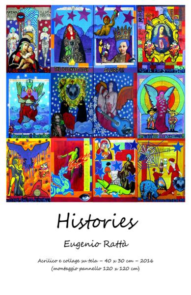 Histories Acrilico e collage su tela – 40x30cm –2016 - € 800 singola opera