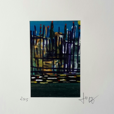 City - Acrilico su cartoncino riciclato - cm 25x35 – 2015 - € 100