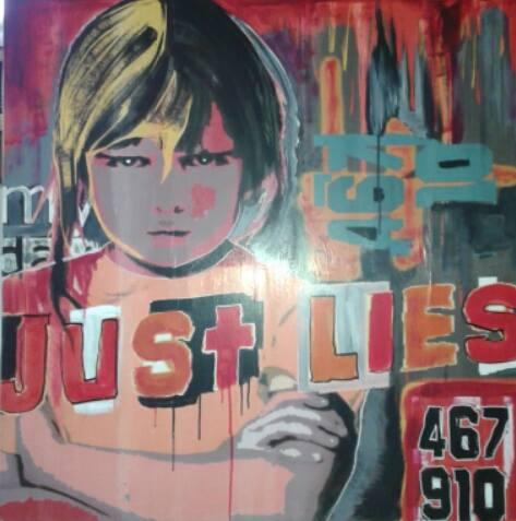Untouchables - Acrilici e collage su tela - cm 100x100