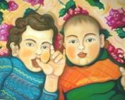 Marco e Alessio - Olio su tela - cm 60x80