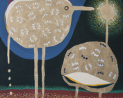 Riicordi - Tempera,  acrilico, foglia oro e silicone su tela - cm 100x100 - 2016
