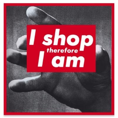 Barbara Krunger, I shop therefore I am, 1987, serigrafia fotografica su vinile