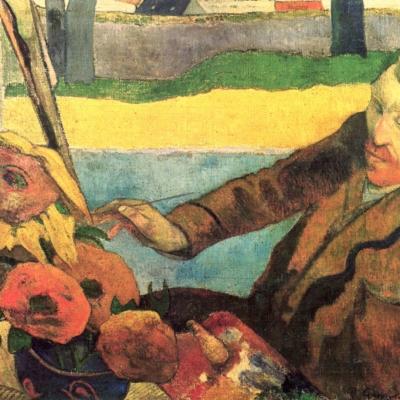 Paul Gauguin Vincent Van Gogh dipinge i girasoli - 1888 - Olio su tela cm 73X92 -  Van Gogh Museum - Amsterdam
