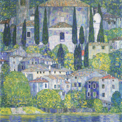 Church in Cassone (Landscape with Cypresses )