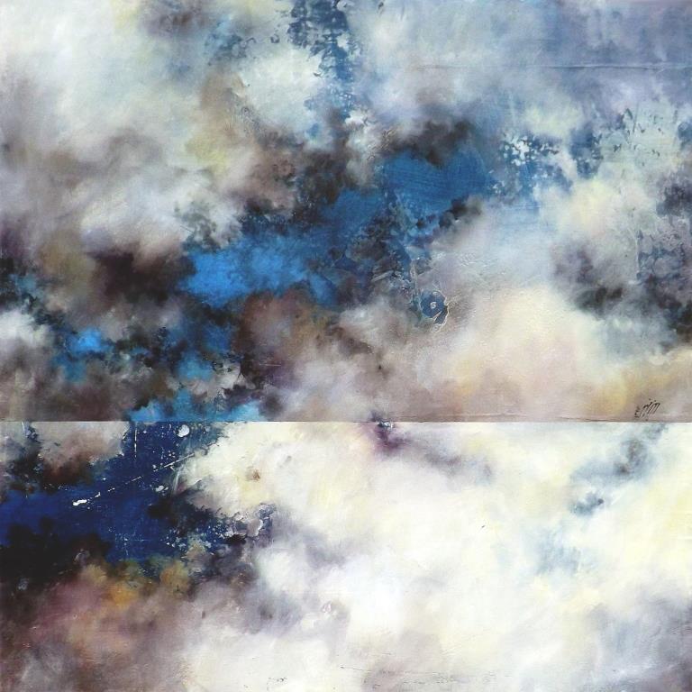 Sky mirror, 2016, tecnica mista su legno 70x70 cm