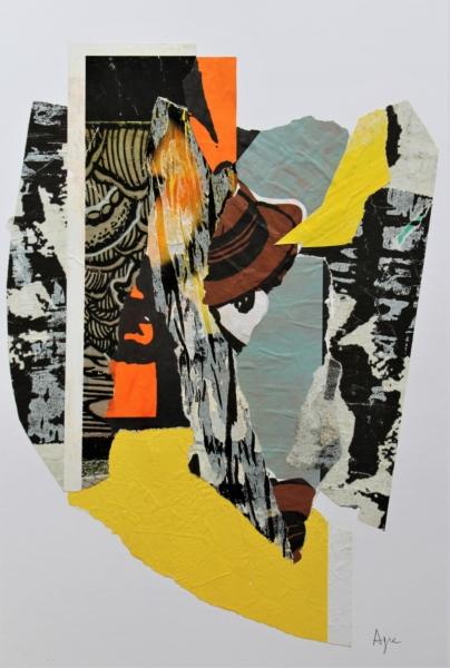 Ispanico Collage con manifesti di carta – cm 52x38x3 – € 380