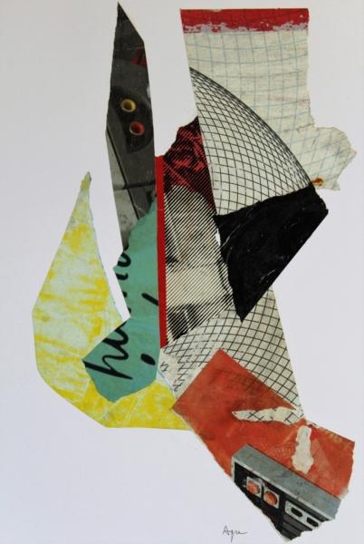 Robot Collage con manifesti di carta – cm 52x38x3 – € 350