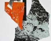 Strada di montagna  Collage con manifesti di carta – cm 52x38x3 – € 380