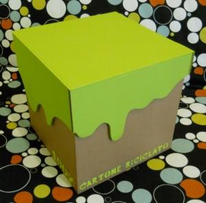 Cubo sgabello cartone riciclato L30 x P30 x H30  80