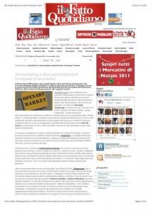 Il Fatto Quotidiano -  di Eugenia Romanelli | 10 novembre 2011 - pag. 3