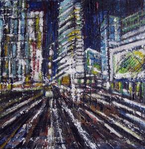 Luci di Berlino - olio su tela - cm.30x30