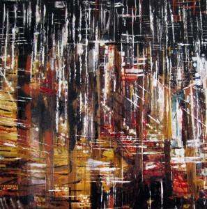 Luci nella notte n° 2 - tecnica mista - cm. 30x30